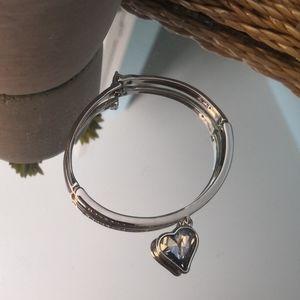 Jewelry - Brand new crystal heart bangle bracelet